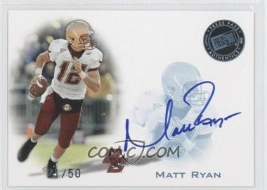 2008 Press Pass - Signings - Blue #PPS-MR - Matt Ryan /50