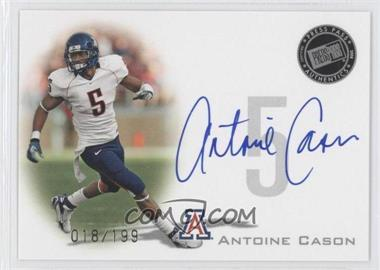 2008 Press Pass - Signings - Silver #PPS-AC2 - Antoine Cason /199
