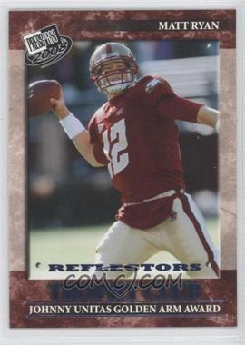 2008 Press Pass Blue Reflectors #52 - Matt Ryan