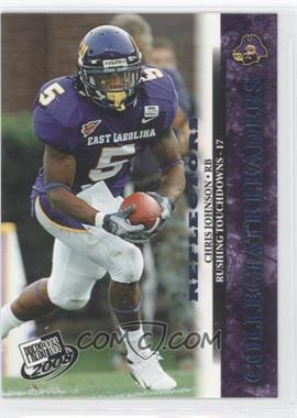 2008 Press Pass Blue Reflectors #70 - Chris Johnson