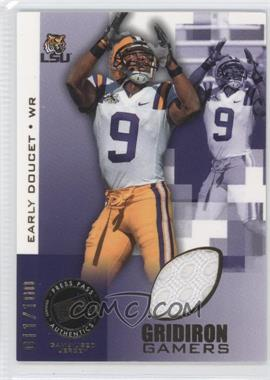 2008 Press Pass Gridiron Gamers Gold #GG-ED - Early Doucet /100