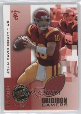 2008 Press Pass Gridiron Gamers Gold #GG-JDB - John David Booty /100