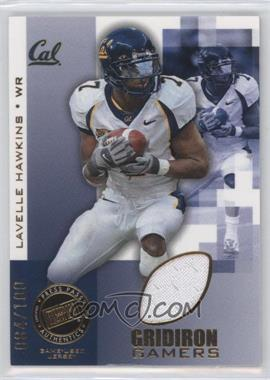 2008 Press Pass Gridiron Gamers Gold #GG-LH - Lavelle Hawkins /100