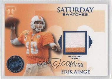 2008 Press Pass Legends - Saturday Swatches - Premium #SS-EA - Erik Ainge /50
