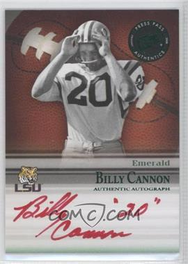 2008 Press Pass Legends Bowl Edition Semester Signatures Emerald #SS-BC - Billy Cannon