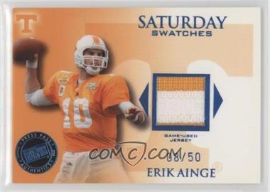 2008 Press Pass Legends Saturday Swatches Premium #SS-EA - Erik Ainge /50