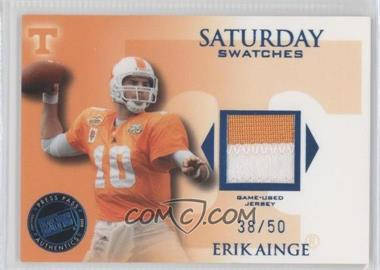 2008 Press Pass Legends Saturday Swatches Premium #SS-EA - Erik Ainge /50