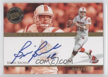 2008 Press Pass Power Pick Autographs #PP-BB - Brian Brohm /100