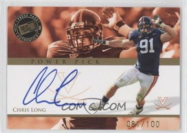 2008 Press Pass Power Pick Autographs #PP-CL - Chris Long /100