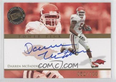 2008 Press Pass Power Pick Autographs #PP-DM - Darren McFadden /100