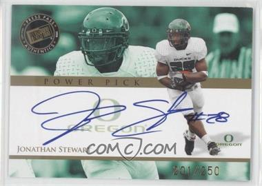 2008 Press Pass Power Pick Autographs #PP-JS - Jonathan Stewart /250