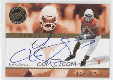 2008 Press Pass Power Pick Autographs #PP-LS - Limas Sweed /237