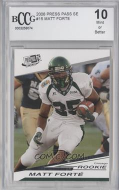 2008 Press Pass SE - [Base] #15 - Matt Forte [ENCASED]