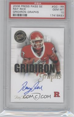 2008 Press Pass SE - Gridiron Graphs #GG-RR - Ray Rice [PSA 10]