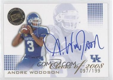 2008 Press Pass SE [???] #CL-AW - Andre Woodson /199