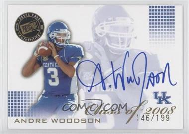 2008 Press Pass SE Class of 2008 Autographs Blue Ink [Autographed] #CL-AW - Andre Woodson /199