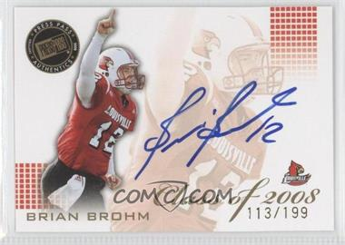 2008 Press Pass SE Class of 2008 Autogrphs [Autographed] #CL-BB - Brian Brohm /199