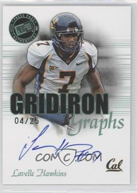 2008 Press Pass SE Gridiron Graphs Green #GG-LH - Lavelle Hawkins /25
