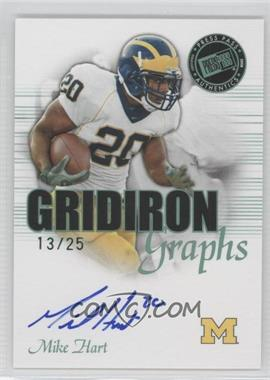 2008 Press Pass SE Gridiron Graphs Green #GG-MH - Mike Hart /25