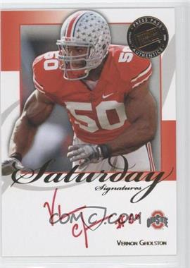 2008 Press Pass Saturday Signatures Red Ink #SS-VG - Vernon Gholston /50