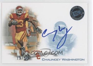 2008 Press Pass Signings Blue #PPS-CW - Chauncey Washington /50