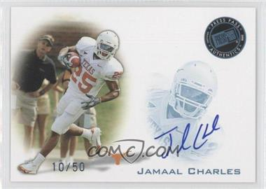2008 Press Pass Signings Blue #PPS-JC - Jamaal Charles /50