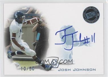 2008 Press Pass Signings Blue #PPS-JJ - Josh Johnson /50