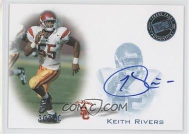 2008 Press Pass Signings Blue #PPS-KR - Keith Rivers /50