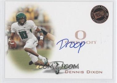 2008 Press Pass Signings Bronze Nicknames #PPS-DD - Dennis Dixon