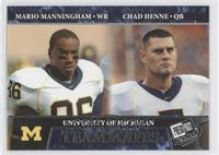 Mario Manningham, Chad Henne