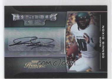 2008 Prestige Prestigious Picks Silver Signatures [Autographed] #PPI-35 - Dennis Dixon /50
