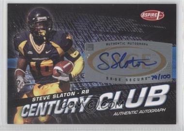 2008 SAGE Aspire Century Club Autographs [Autographed] #ACC-16 - Steve Slaton /100