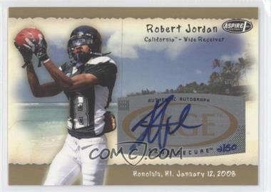 2008 SAGE Aspire Hula Bowl All-Star Game Autographs Gold #H10 - Robert Jordan /50