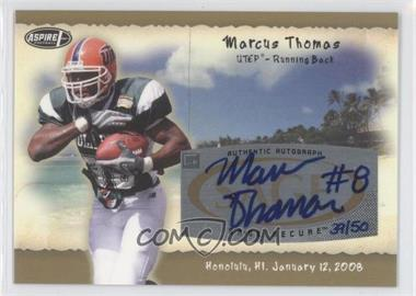 2008 SAGE Aspire Hula Bowl All-Star Game Autographs Gold #H25 - Marcus Thomas /50