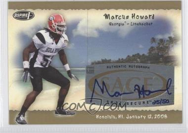 2008 SAGE Aspire Hula Bowl All-Star Game Autographs Gold #H8 - Marcus Howard /50
