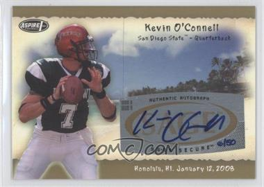 2008 SAGE Aspire Hula Bowl Autographs Gold #H17 - Kevin O'Connell /50