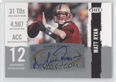 2008 SAGE Hit Autographs Silver #A12 - Matt Ryan