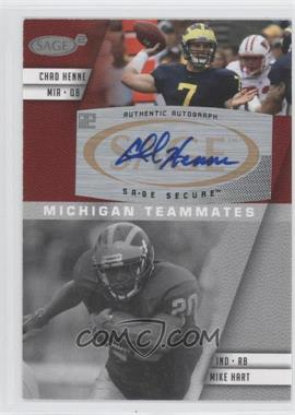 2008 SAGE Squared Autographs #A-80B - Mike Hart, Chad Henne