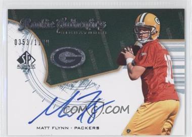 2008 SP Authentic - [Base] #228 - Rookie Authentics Signatures - Matt Flynn /1199