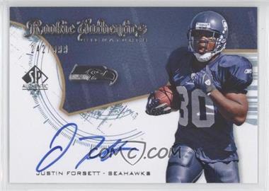 2008 SP Authentic - [Base] #247 - Rookie Authentics Signatures - Justin Forsett /999