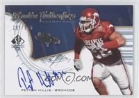 Rookie Authentics Signatures - Peyton Hillis /399