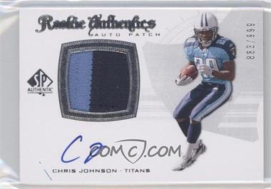 2008 SP Authentic - [Base] #288 - Rookie Authentics Auto Patch - Chris Johnson /999