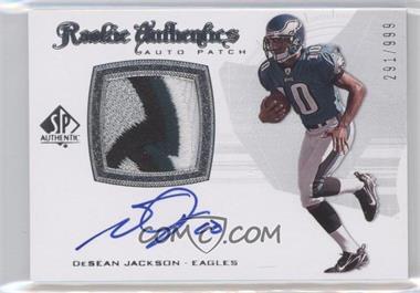 2008 SP Authentic - [Base] #290 - Rookie Authentics Auto Patch - DeSean Jackson /999