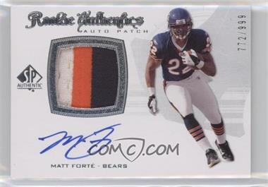 2008 SP Authentic - [Base] #298 - Rookie Authentics Auto Patch - Matt Forte /999