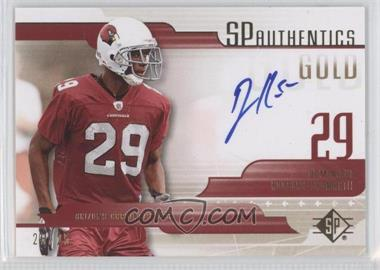 2008 SP Authentic - SP Authentics - Gold #SP-DR - Dominique Rodgers-Cromartie /25