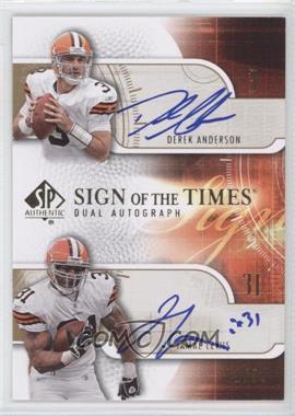 2008 SP Authentic [???] #SOTT2-AL - Derek Anderson, Jamal Lewis