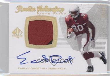 2008 SP Authentic Gold #291 - Early Doucet /25