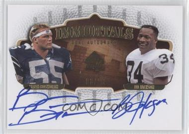 2008 SP Authentic Immortals Dual Autographs #SPI2-JB - Brian Bosworth, Bo Jackson /20