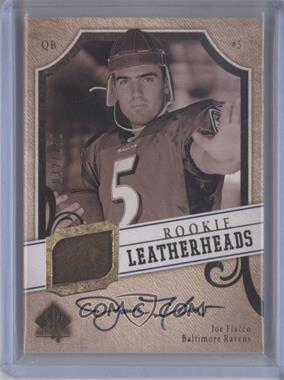 2008 SP Authentic Rookie Leatherheads #LH-JF - Joe Flacco /150