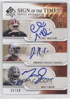 Leodis McKelvin, Dominique Rodgers-Cromartie, Mike Jenkins /50